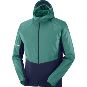 Salomon Agile Full Zip Hoodie Men pacific/night sky